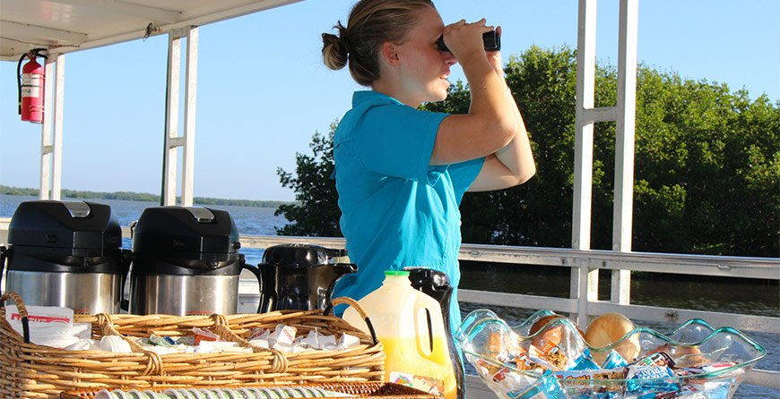 Image of the breakfast cruise at Tarpon Bay Explorers
