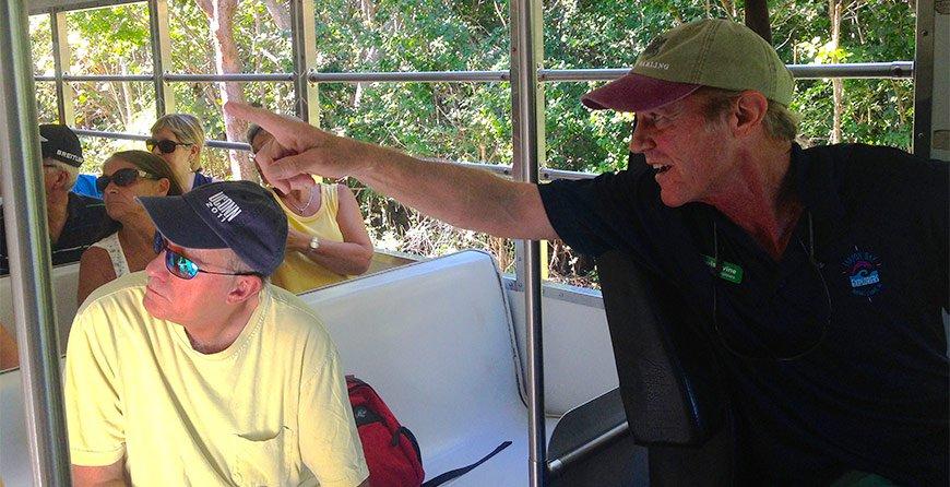 Image of the refuge tram tour at Tarpon Bay Explorers