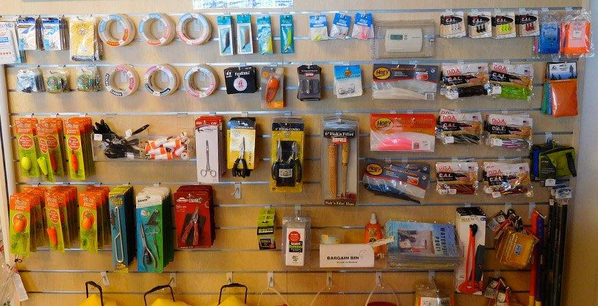 Image of fishing equipment available at Tarpon Bay Explorers