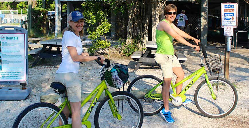 Image of rental bikes at Tarpon Bay Explorers