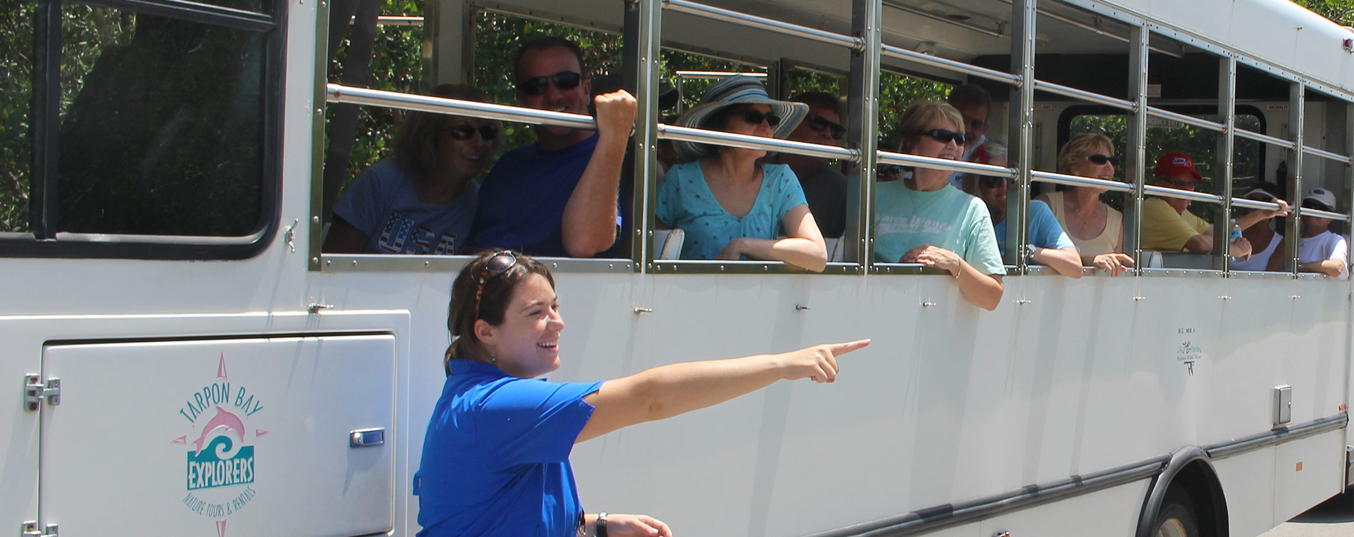 Image of refuge tram tour tour at Tarpon Bay Explorers